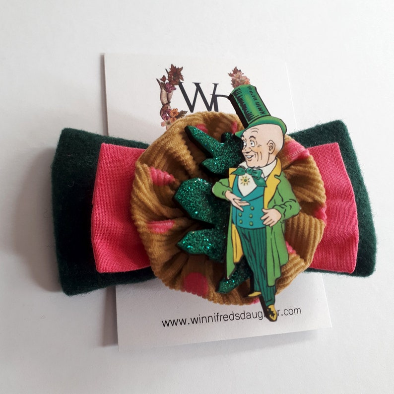 74d1e0508 Wizard of the Bright Green City Bow   Etsy