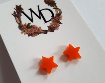 Twinkle Twinkle Stud Earrings in 'Tangerine' by Winnifreds Daughter