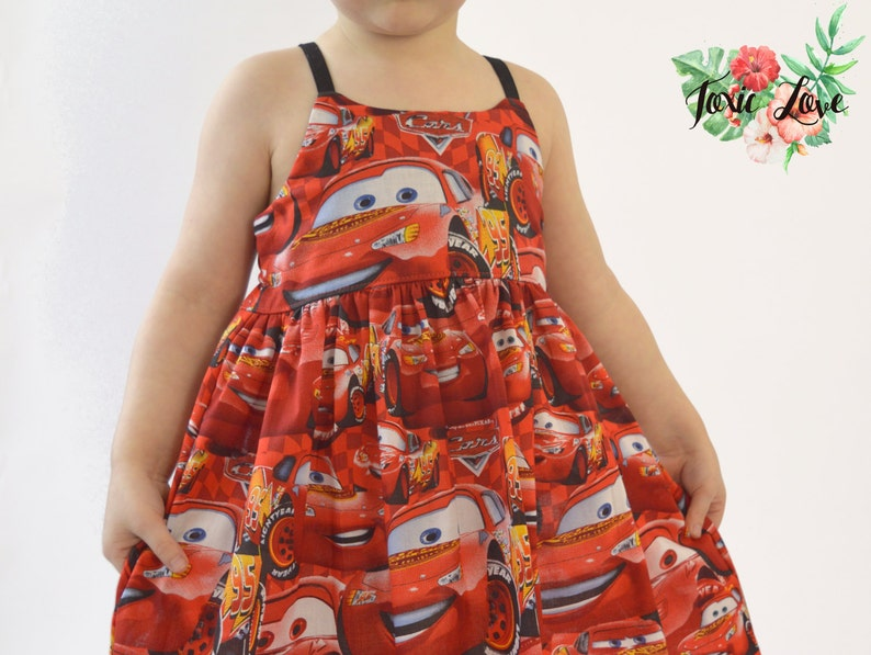 Lightning McQueen Shirt Disney Cars dress disney cars party Baby and Girls Newborn - 12 lightning mcqueen birthday outfit Dress or Maxi