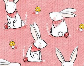 PRINT Pink Bunnies