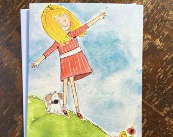 PRINTED CARD Grandma's Backyard