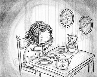 PRINT Teatime Bear
