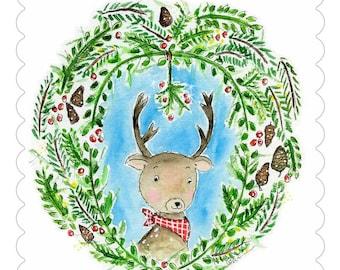CARD Reindeer Kisses