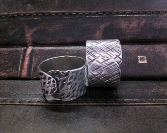 SALE - Textured Sterling Silver Adjustable Ring