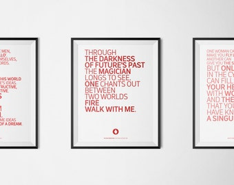 Twin Peaks SET #2: 3 Serial Quotes Posters (Digital Download of A4/A3/A5 Printable PDF)
