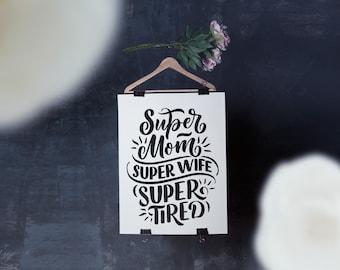 Mother's Day Super MOM Humor pdf printable poster