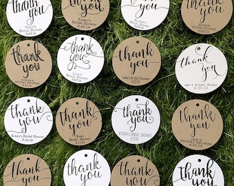 9dae7964e09 Thank You Tags   Bridal Shower Favor Tags