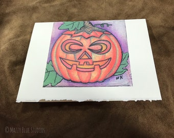 Pumpkin Jack I Greeting Card I Stationary I Notecard I Halloween