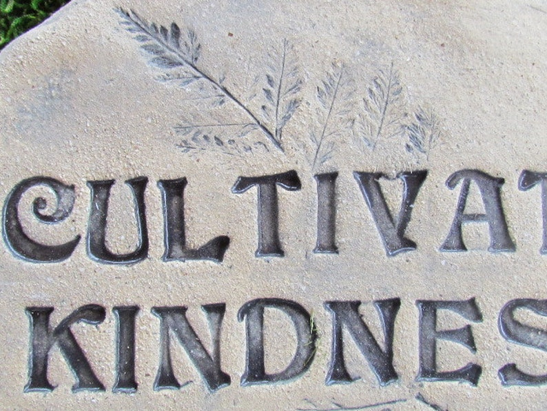 Natural minimalist decor Handmade pottery Words Motivational quote stone Kindness rock message: Cultivate kindness