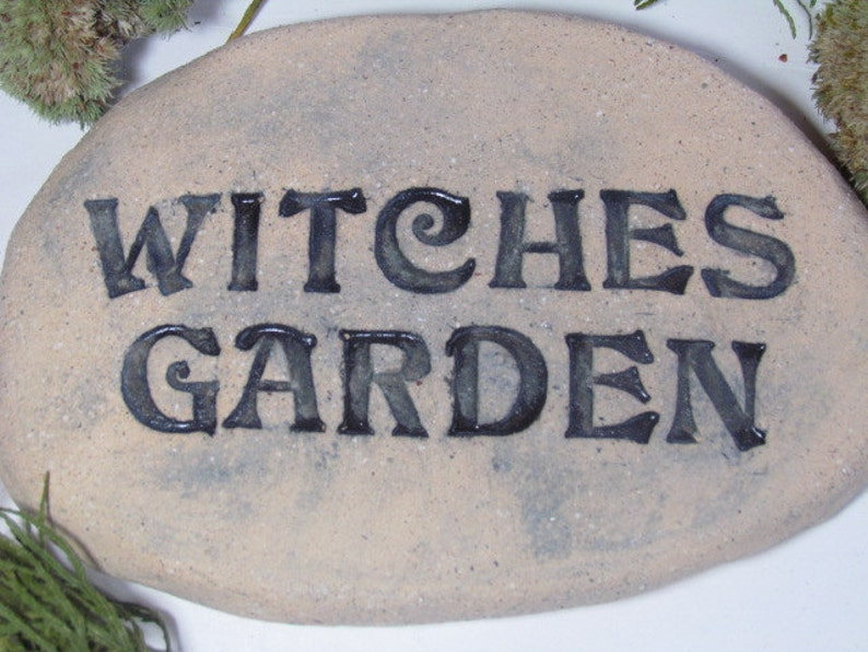Witches rustic garden decor, Witches herb garden sign  Witchcraft, magical  spells, plant or Herb marker for sacred medicinal herbs