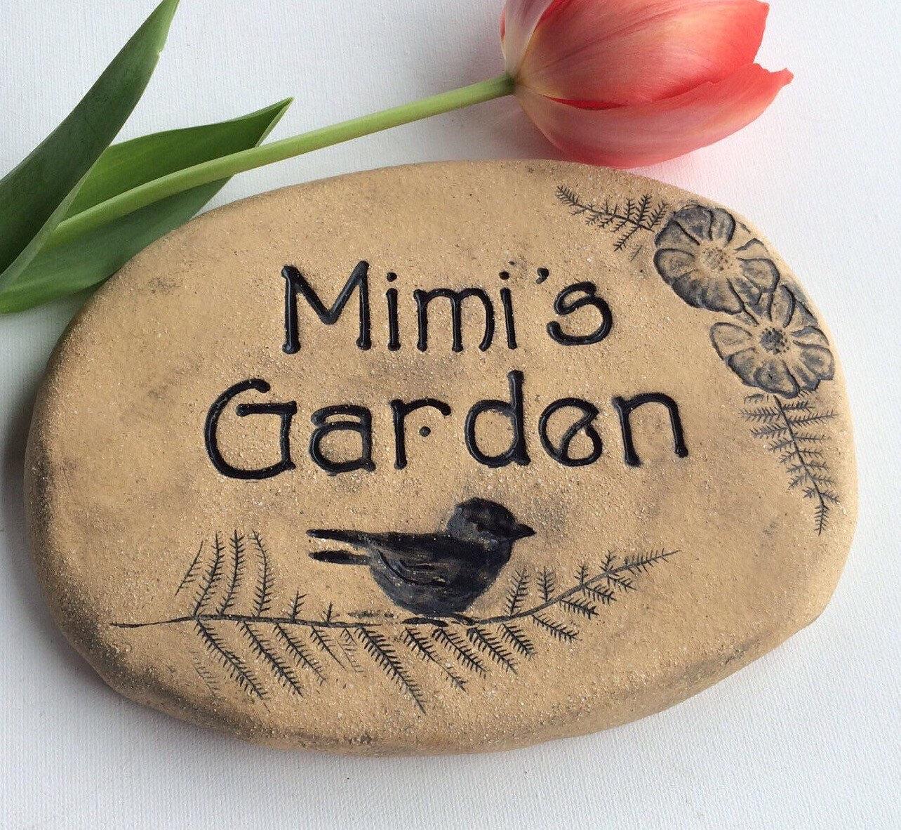 Mimi\'s Garden Mimi gift Mimi garden sign. A beautiful | Etsy