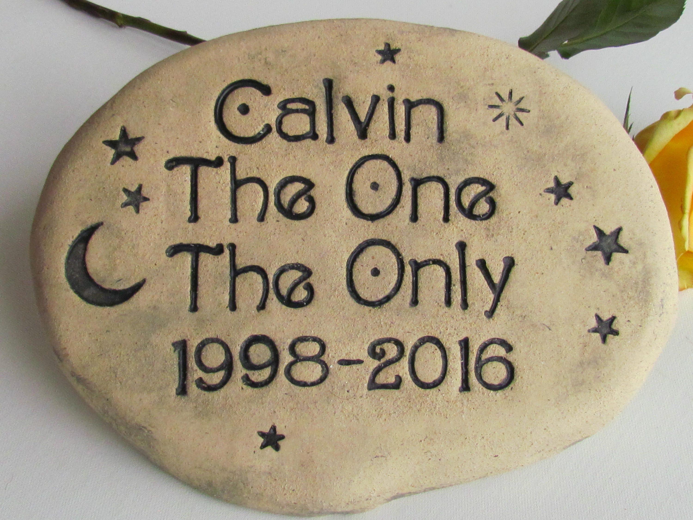 Personalized Garden stone Pet Memorial stone. Outdoor | Etsy