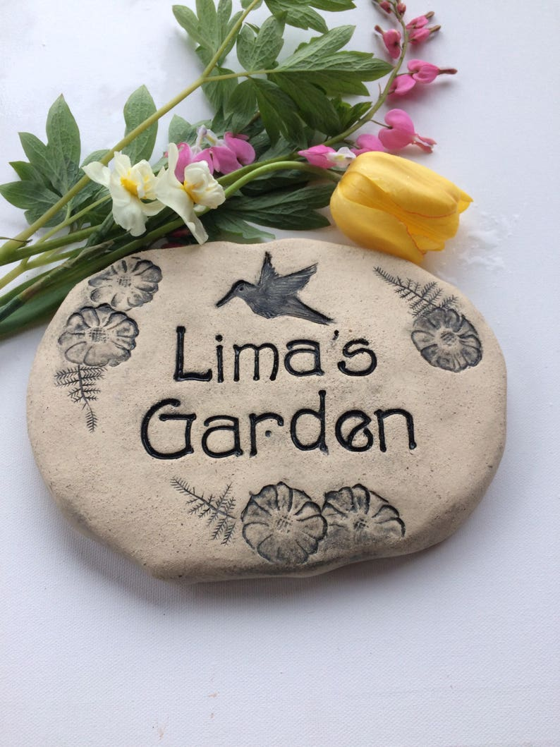 Personalized Garden Stones With Custom Engraved Name Rustic Home Decor Natural Outdoor Gift Grandmother Gift Gardening Gift