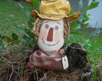 FALL, SCARECROW SITTER,  Primitive, Head, Scarecrow
