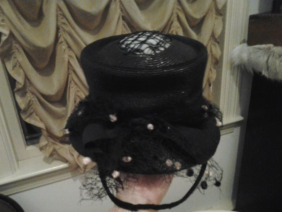 1930s Film Noir Burlesque Film Noir Top Hat w/Pink