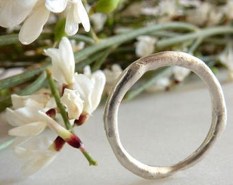 Silver Ring, Minimal Ring, Organic Ring, Reticulated Ring