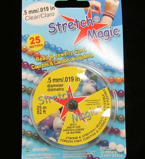 about 82ft Stretch Magic Clear Bead Cord.7mm 25 meters