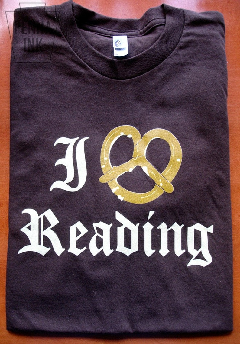 I Pretzel Reading T-Shirt American Apparel XS S M L and image 0
