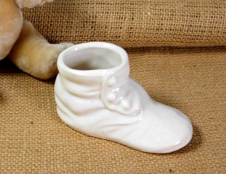 3409498599907 White Baby Shoe Planter. Antique Style Nursery Decor. Small Plant Pot. Air  Plant Holder. Baby Shower Decor. White Farmhouse Decor.