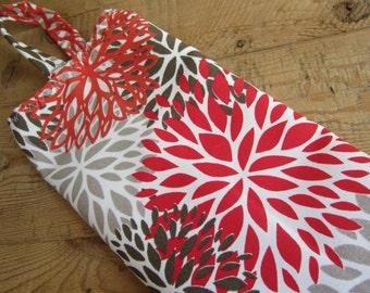 Plastic Bag Holder, Grocery Bag Dispenser - Pretty Flowers