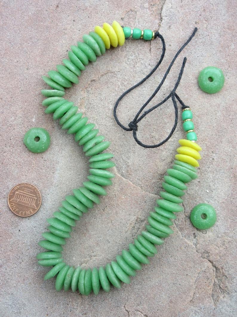 African Green Glass Beads