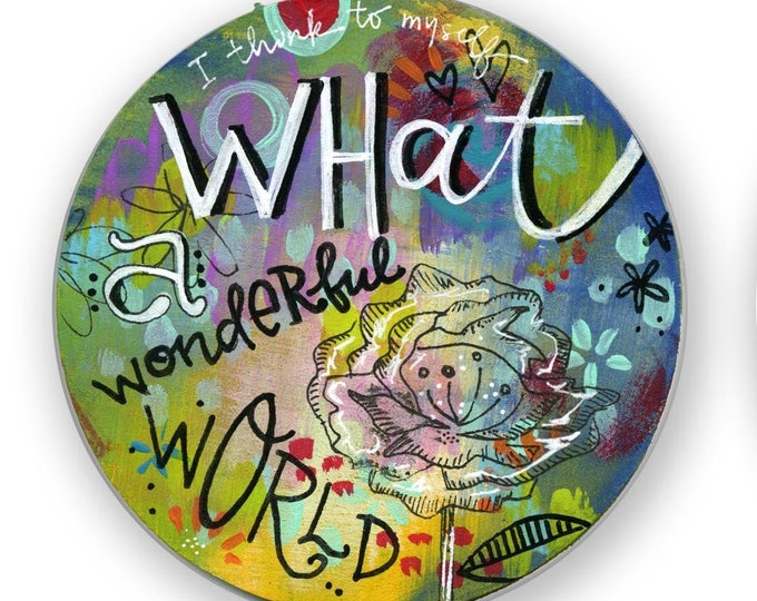 What a Wonderful World Circle | Magnet