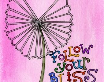 Follow your Bliss   JUMBO magnet