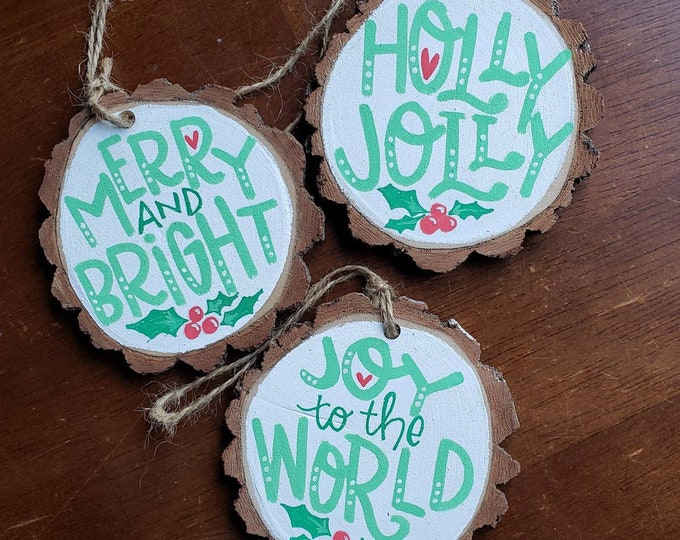 Handpainted Holiday Ornament