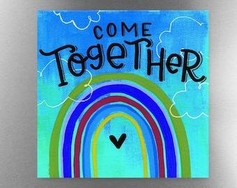 Come Together Blue | Magnet