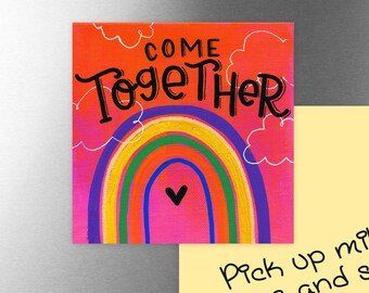 Come Together on Pink | Magnet