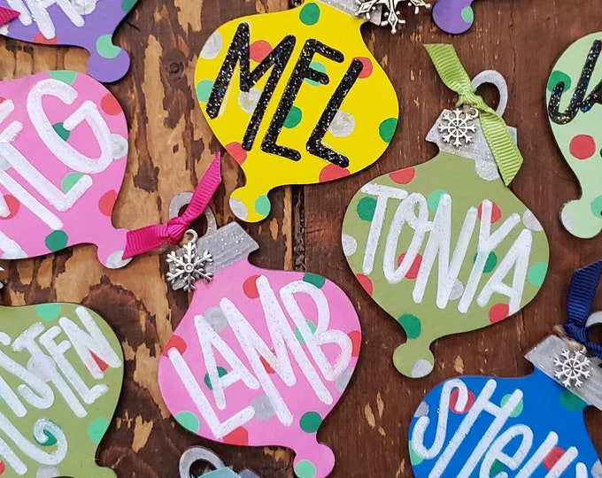 Personalized Handpainted Ornament | Wood Cutout
