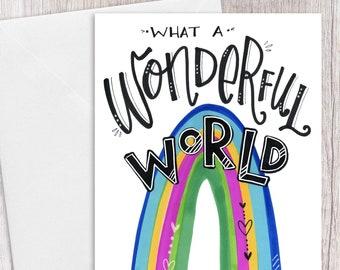 What a Wonderful World | Greeting Card