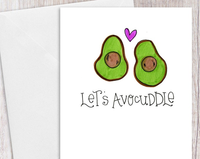 Let's Avocuddle | Greeting Card