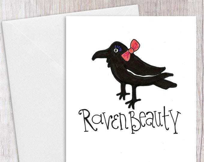 Raven Beauty | Greeting Card