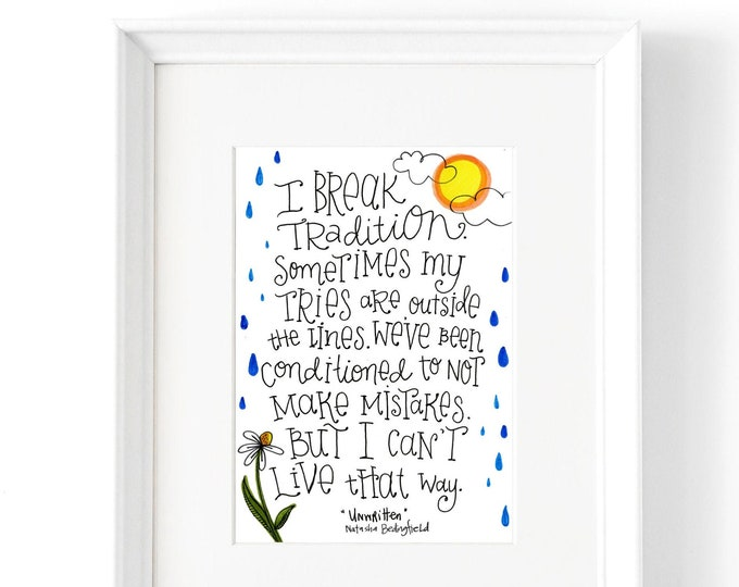 Unwritten | Lyrics Print