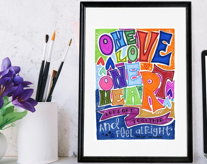 One Love | Lyrics Print