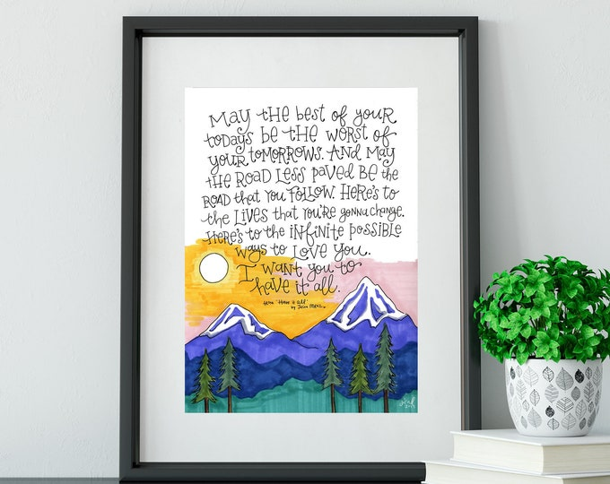 Have it All | Jason Mraz Lyrics Print