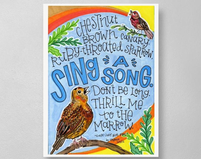 Suite Judy Blue Eyes   Lyrics Print
