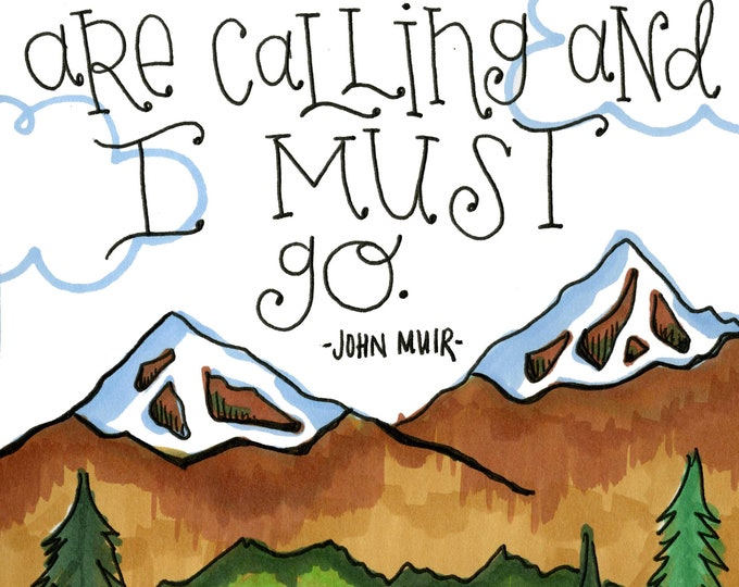 The Mountains are Calling | JUMBO magnet