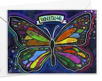 Unique Butterfly   Greeting Card