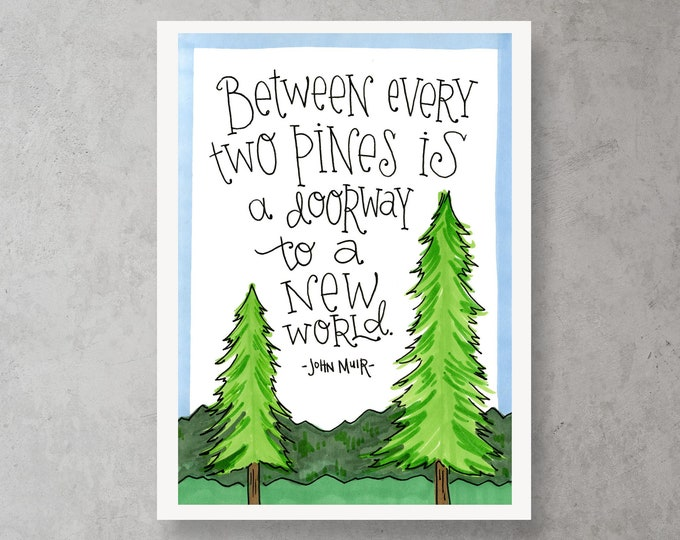 Two Pines | Quote Print