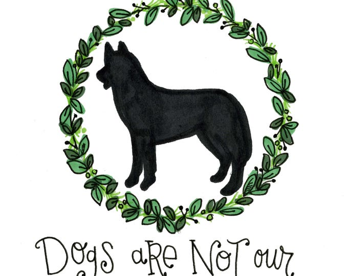 Dog Life   Quote Print