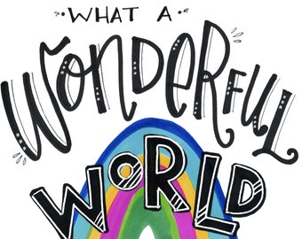 What a Wonderful World | Greeting Card