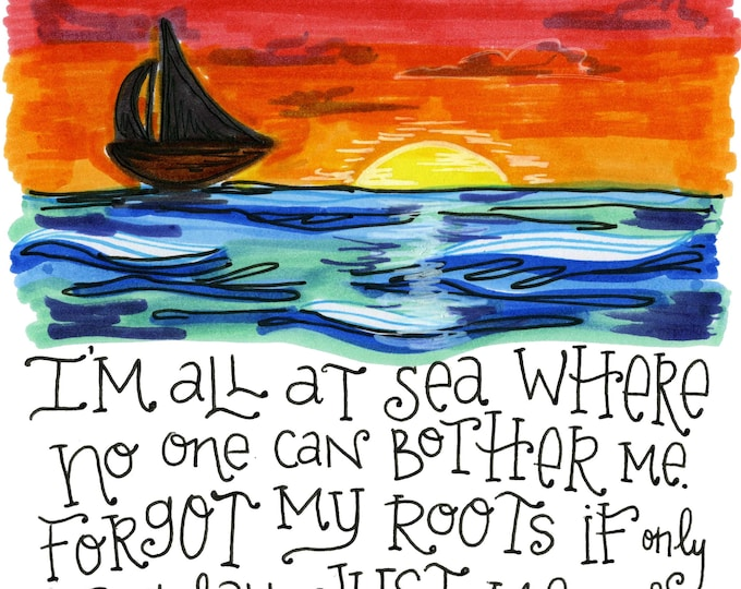 All at Sea | Lyrics Print