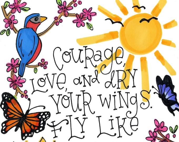 Courage | JUMBO magnet