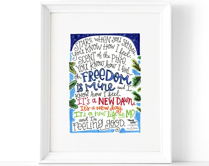 Feeling Good | Lyrics Print