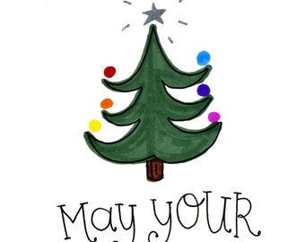 May your Days be Merry and Bright | Greeting Card