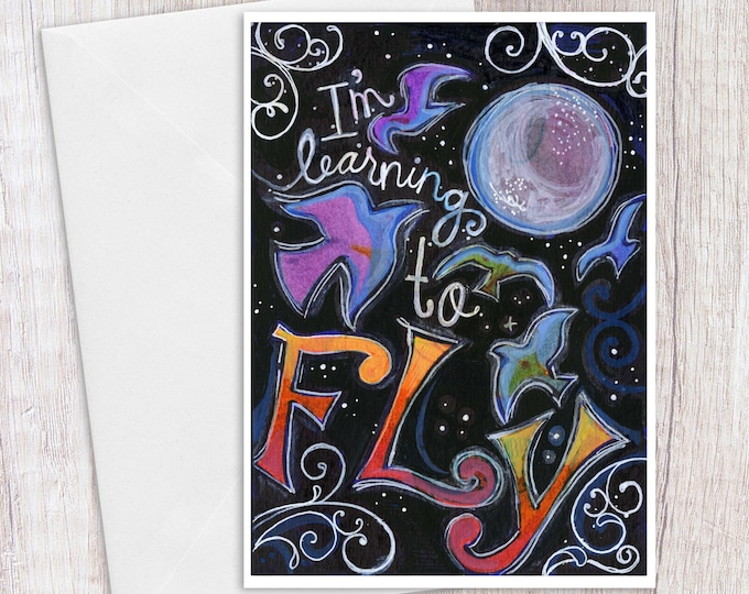 Learning to Fly | Greeting Card