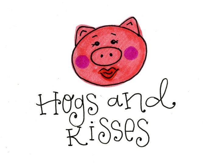Valentine Card Pack - Hogs and Kisses | 4 Pack Valentines