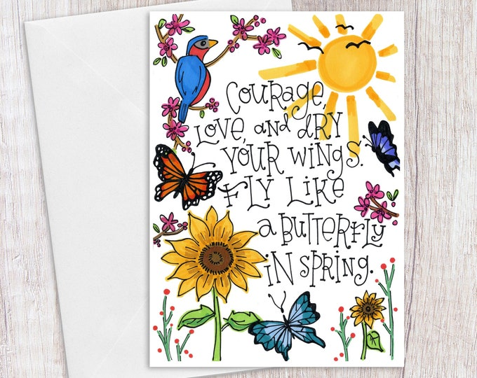 Courage | Greeting Card